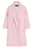 Rochas, Oversized Coat, Pink, AW2013, Pink wool coat, pink coat