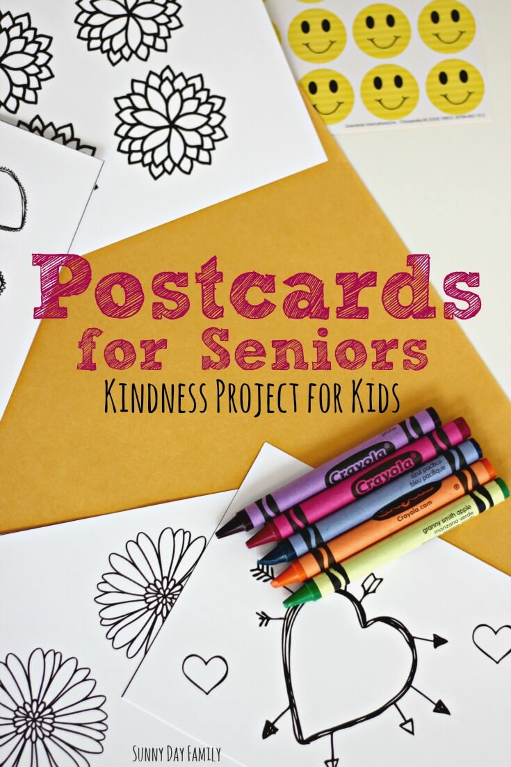 Postcards for Seniors: Kindness Project for Children with Free ...