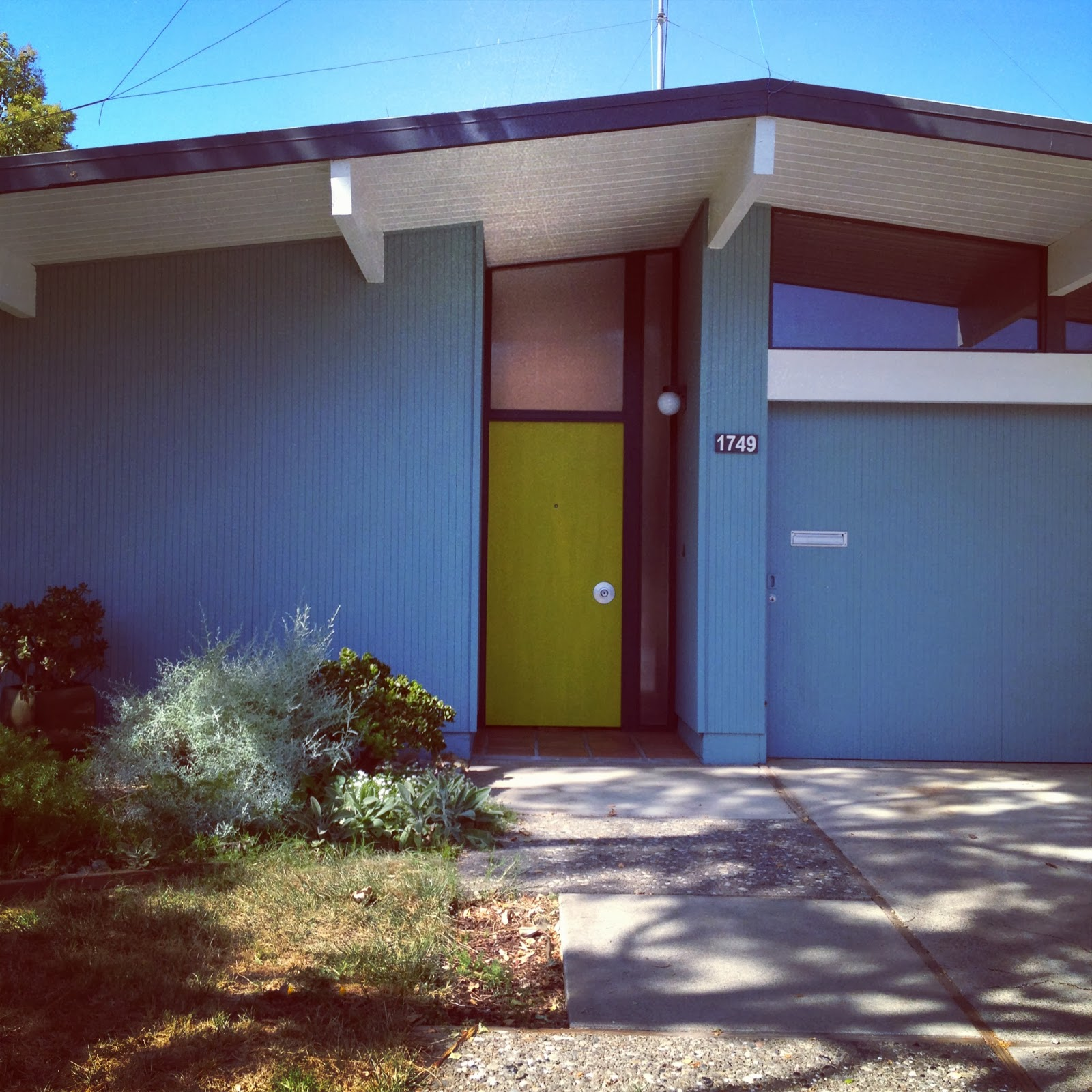 Green Mid Century Modern Eichler Front on Vintage Furniture Stores Austin