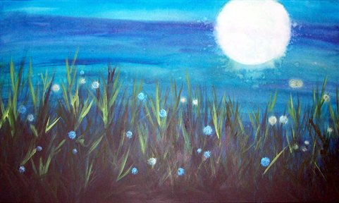 Full Moon, by Chicago artist Christy Freeman.
