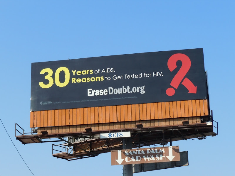 30 years of AIDS billboard