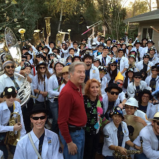 Mike and Gena with the Cal Aggie Marching Band-uh!