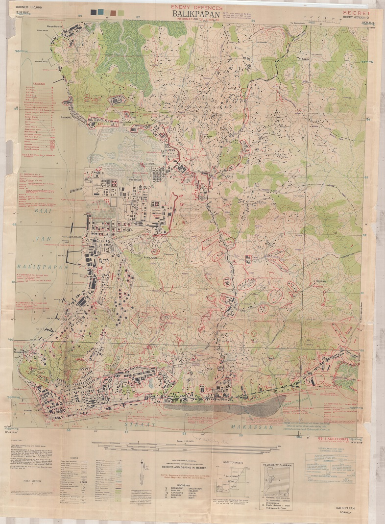 Map of the week secret map of the battle of balikpapan he gave me some maps and diagrams from the war including this remarkably detailed map gumiabroncs Choice Image