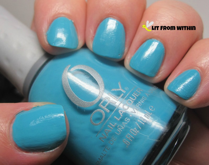 Orly Water Lily, a lovely, smooth, silky turquoise cream