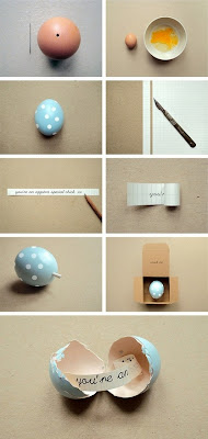 Mensagem num ovo páscoa