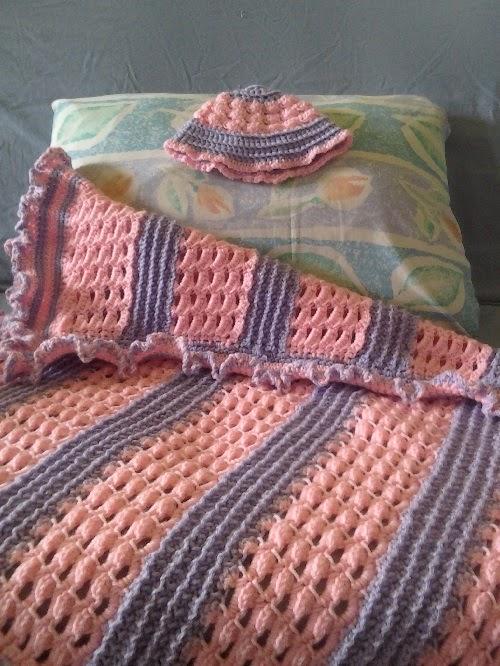 Crochet is the Way: Free Pattern: Baby Girls Blanket