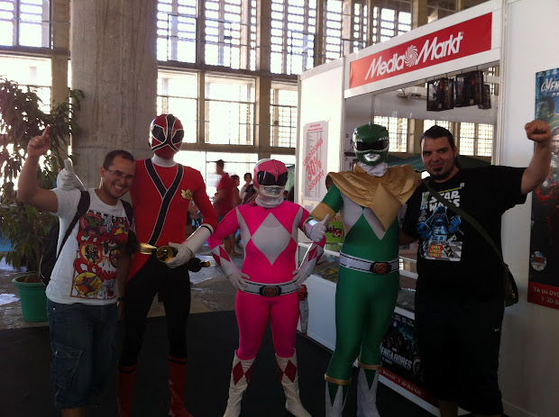 Power Rangers en la Comic Con Spain 2012