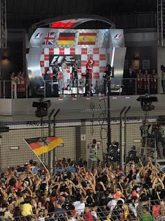 Podium - Singapore Grand Prix 2012