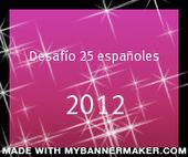 Desafío 25 españoles
