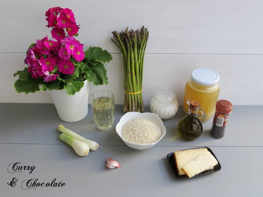 Risotto de espárragos trigueros y queso viejo - Ingredientes