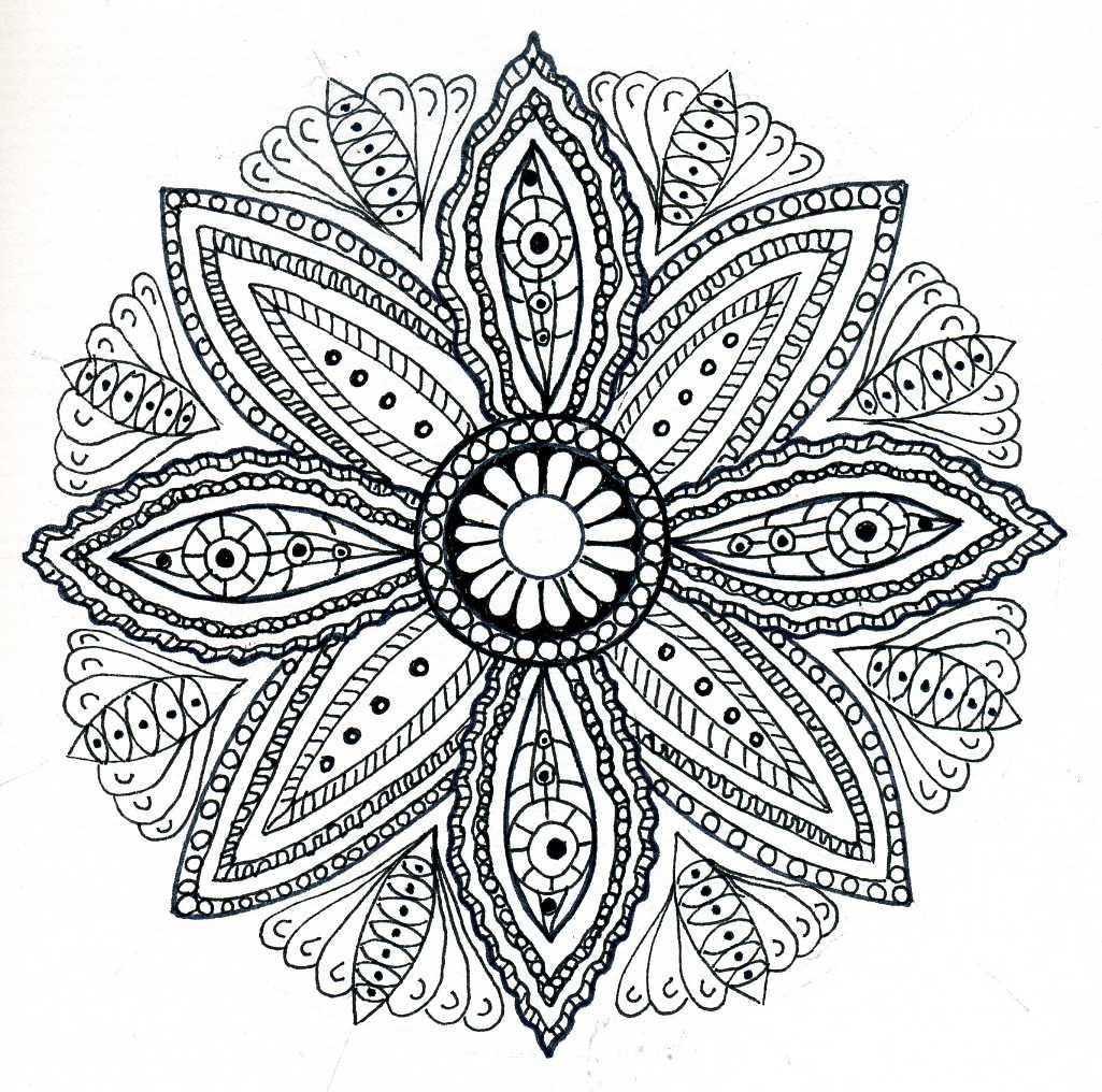 "adalah desain abstrak yang kompleks yang biasanya membentuk lingkaran Pada intinya ""Mandala"" adalah hubungan antara dunia batin dan realistis luar"