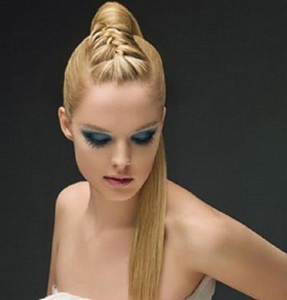 Прически с конским хвостом на длинные волосы