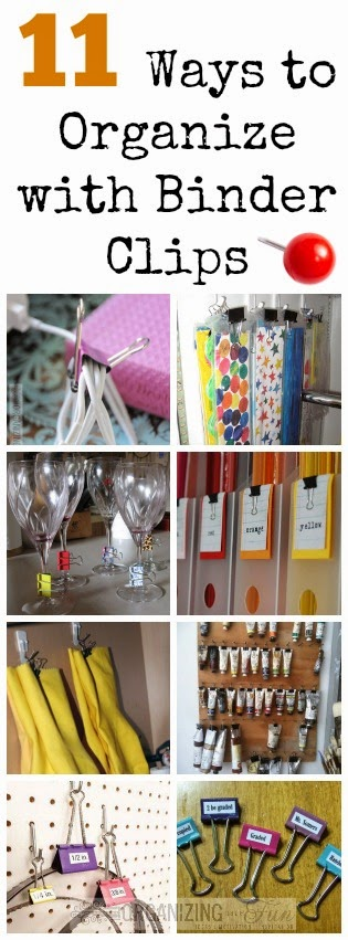 11 Ways to Organize with Binder Clips :: OrganizingMadeFun.com