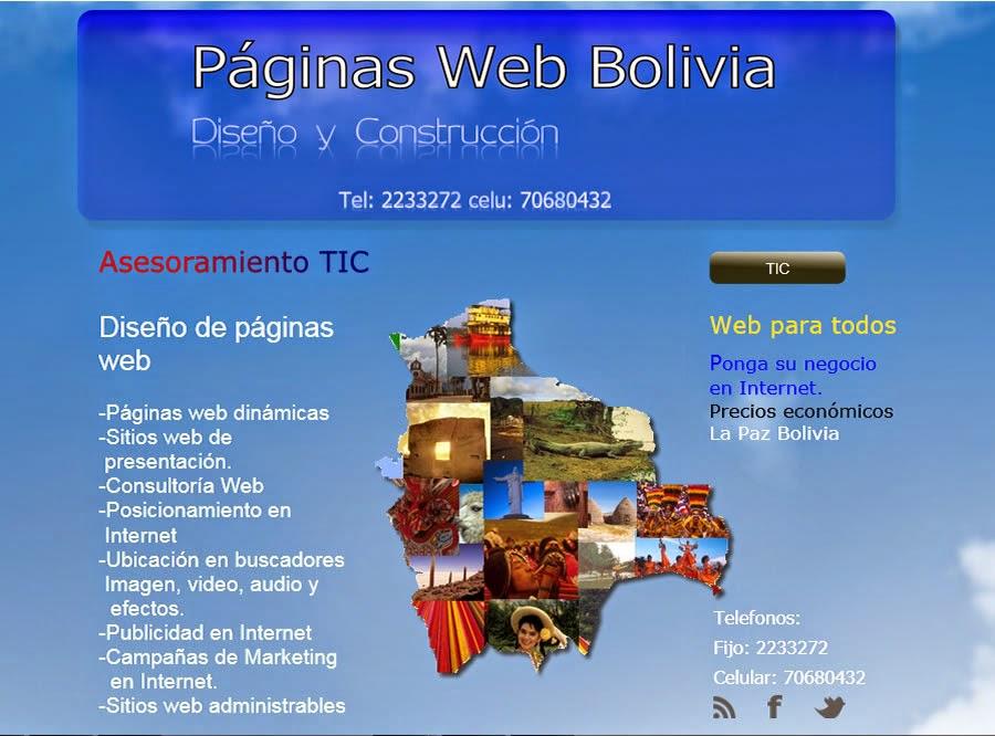 Diseño de páginas web Bolivia