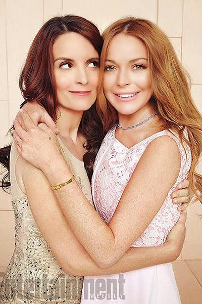 Tina Fey and Lindsay Lohan for Entertainment Weekly
