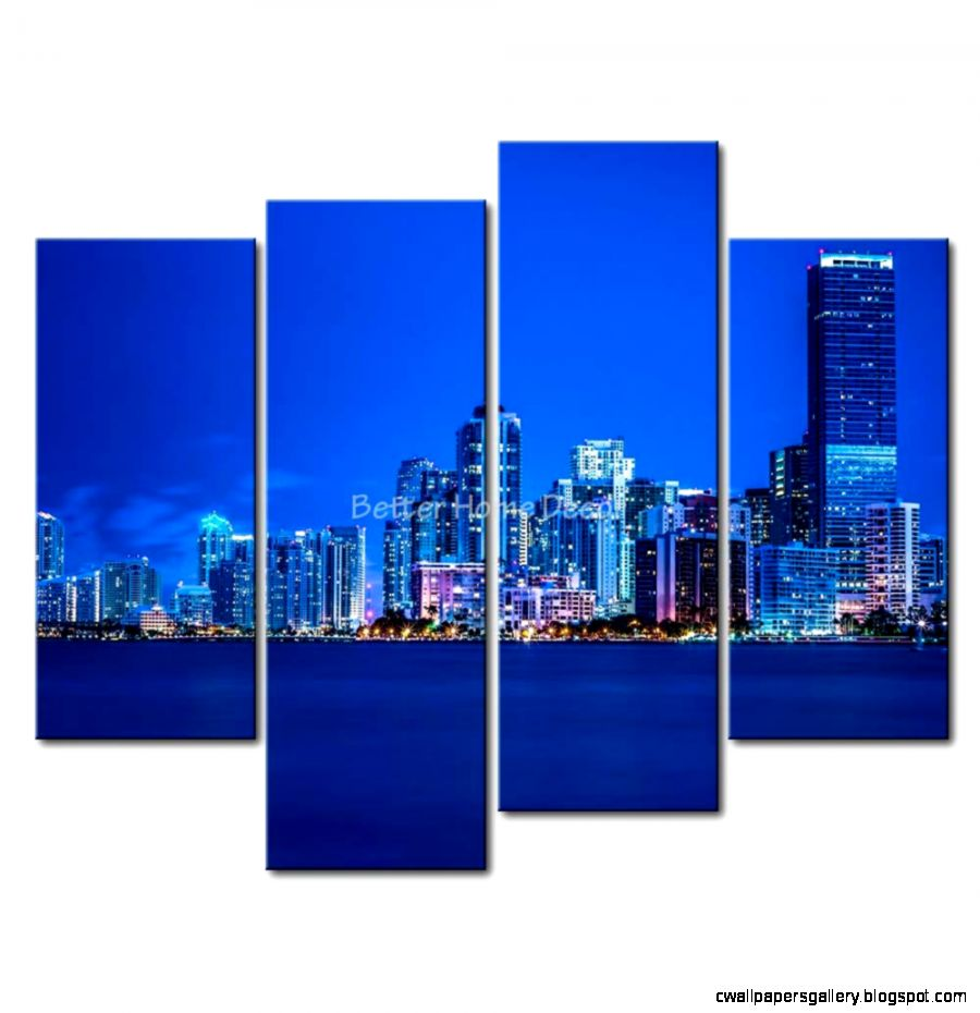 Night City Skyline Painting 35853  DFILES