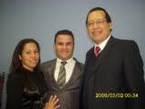 presidente Apóstolo Paulo Corrêa  Pastor Charles Urgnem e Miss Patricia Avila