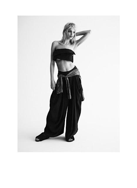 Дафни Гроеневелд (Daphne Groeneveld) в черно-белой фотосессии для журнала Twin Magazine.