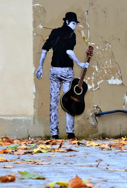 """Orphee"" New Street Art Installation By Levalet on the streets of Paris, France. 1"