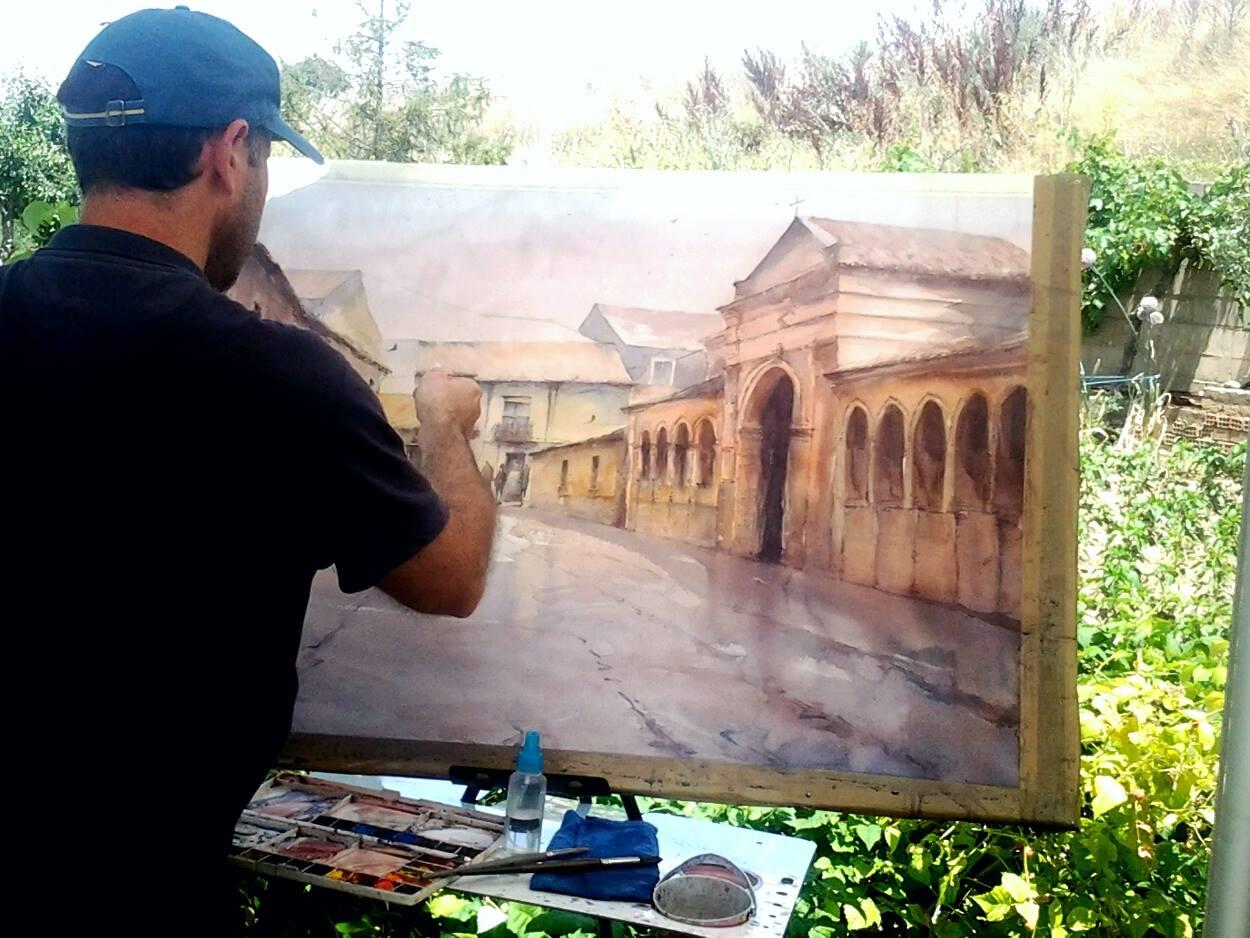 Concurso pintura rápida Villa de Sahagún. 2015.