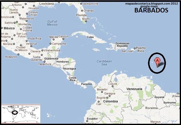 Barbados Map Google: Barbados Earth Map At Slyspyder.com