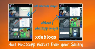 Hide whatsapp images from gallery no root