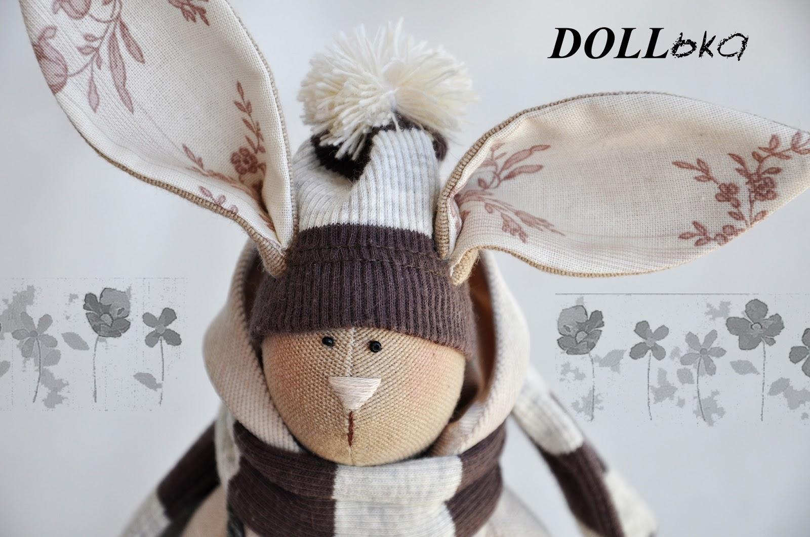 заяц Макс текстильная игрушка ручной работы