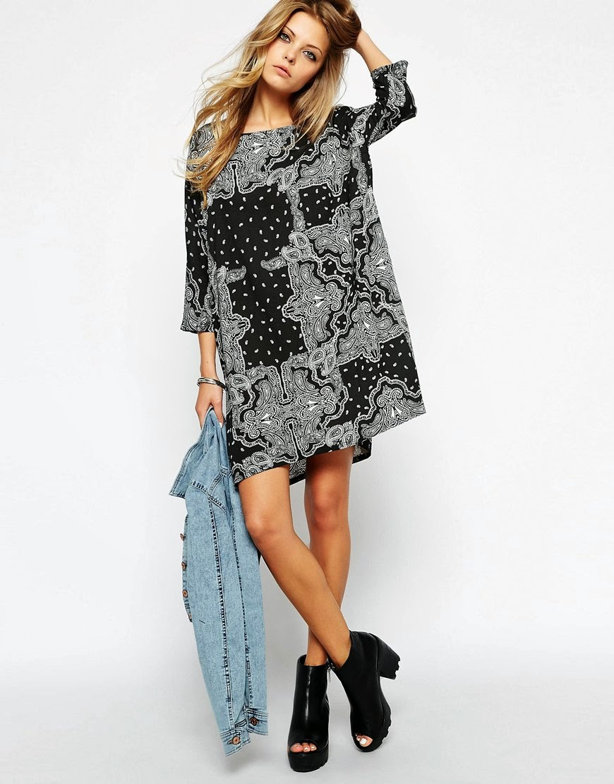 noisy may black paisley dress, black paisley dress,