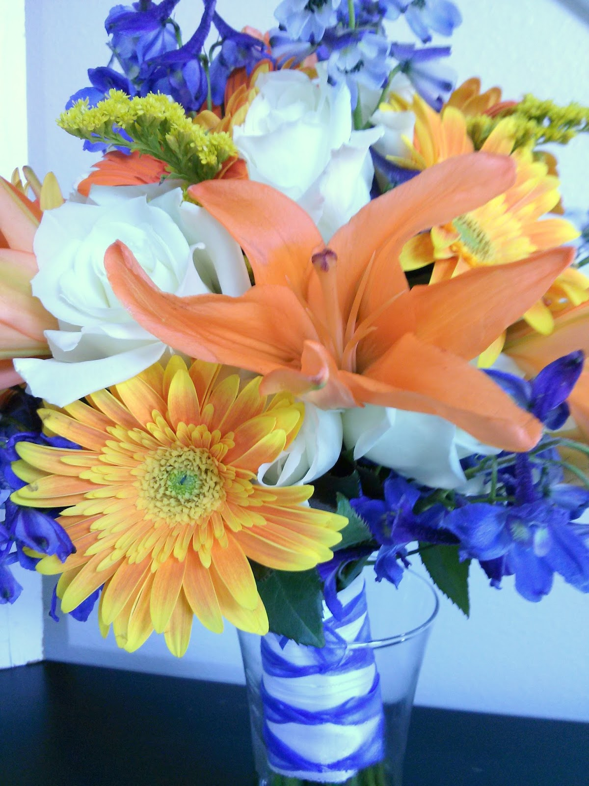 Celebration Flair Tangerine And Royal Blue