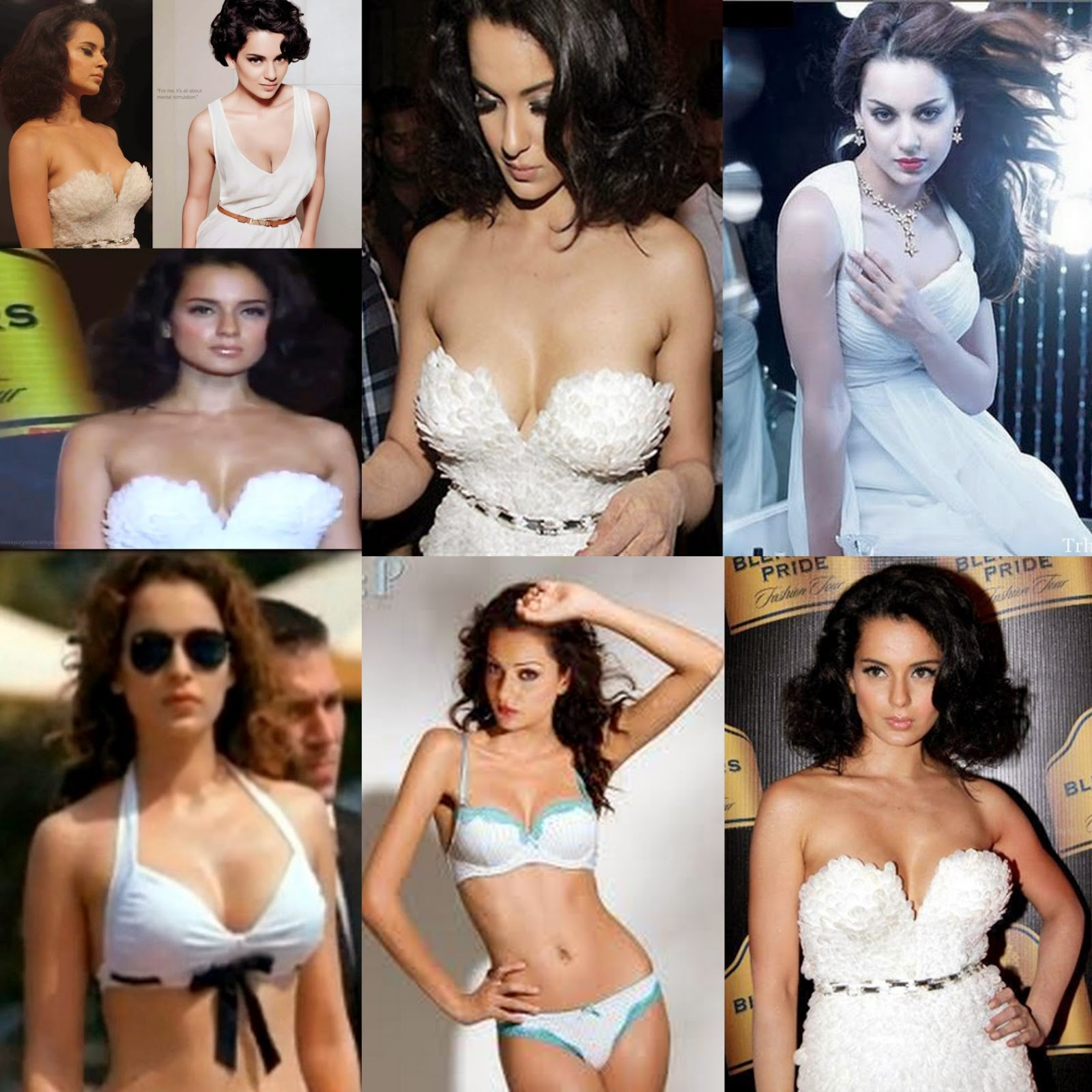 Kangana Ranaut Hot Photos in White Bikini