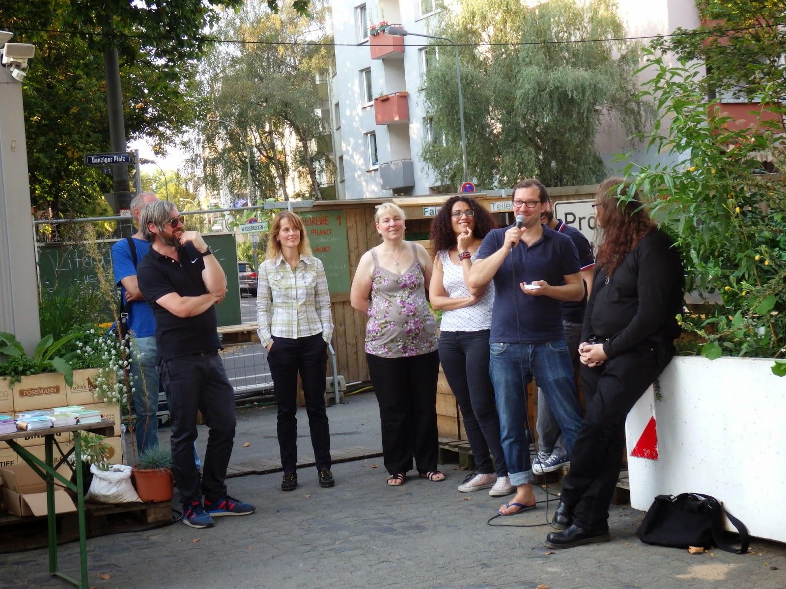 Autoren-Speeddating im Frankfurter Garten am 6.9.2014