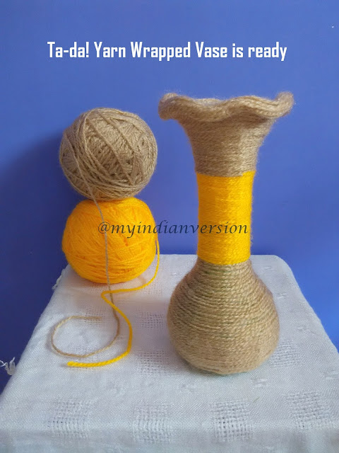 Diy : Yarn Wrapped Vase Tutorial - Final