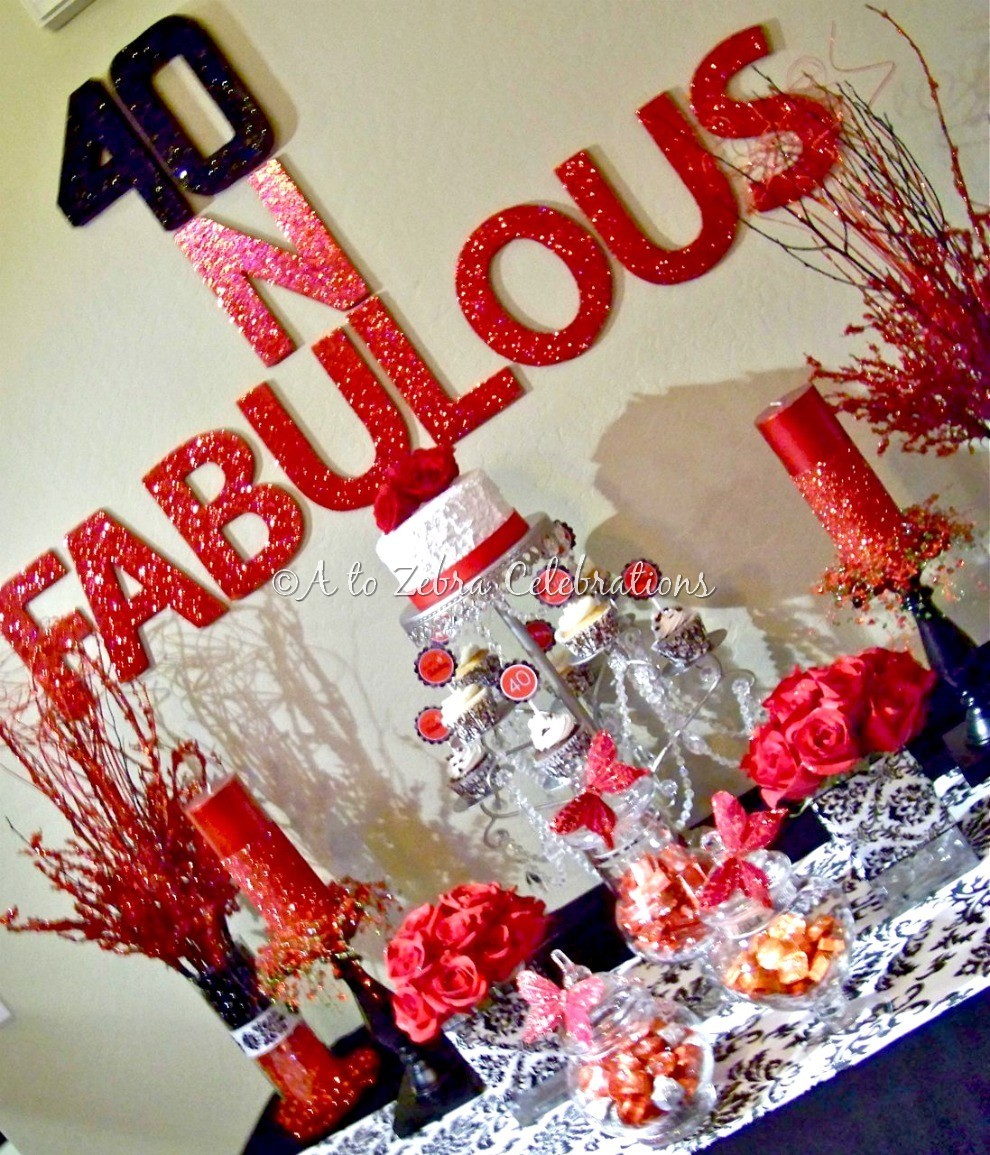 40 fabulous party a to zebra celebrations On 40 birthday decoration ideas