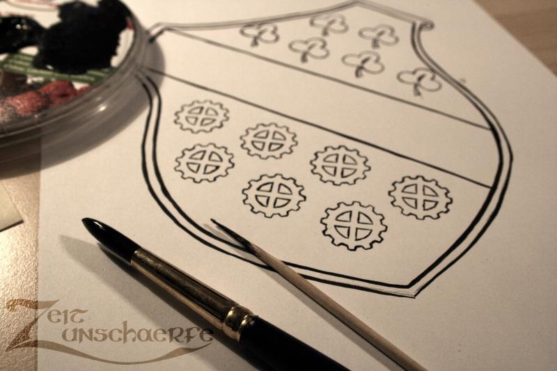 Casseler Steampunk-Wappen Work-in-Progress
