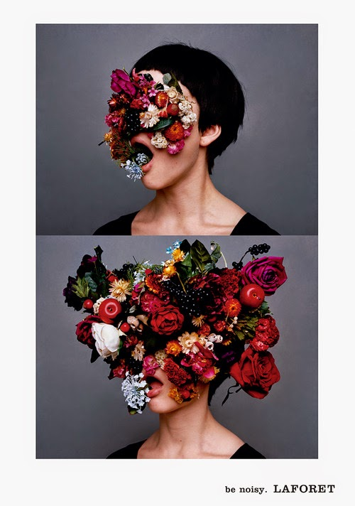 floral inspiration, floral head, flower, head, be noisy, la foret, laforet, inspiration, womens fashion, fashion blog