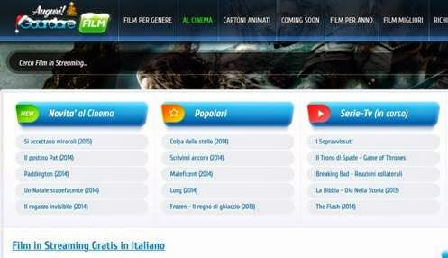 sito di streaming film in italiano