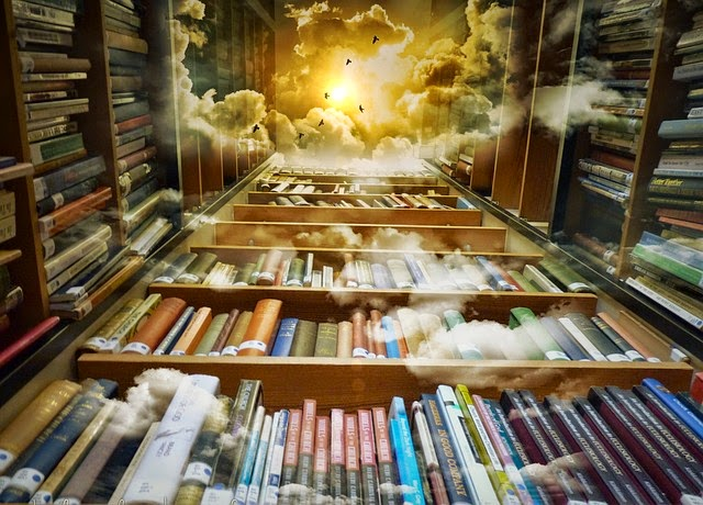 Edward dreamed of books and covers and libraries and flying through clouds to big shelves full of books in the sky.