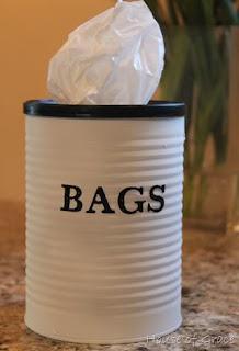 DIY kaleng bekas : Plastic Bag Can Holder
