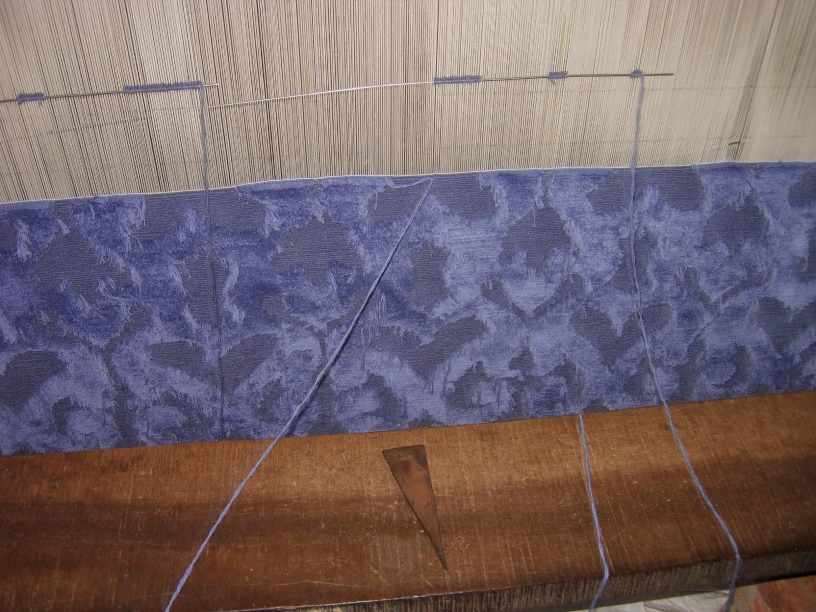 weaving of 100 knots tibetan weave handknotted rug