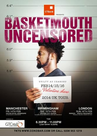 GTBank sponsors Basketmouth Uncensored Tour with N30million