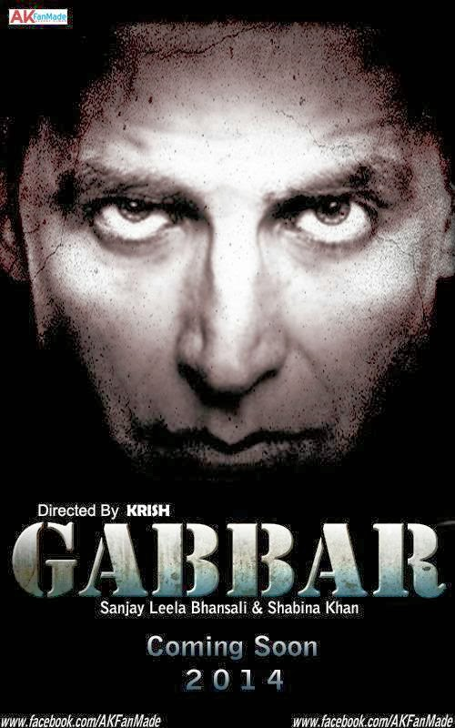 Gabbar (2014) Bollywood film First Look Poster, wallpapers, pics Actor, actress pHotos