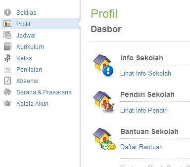Kemudian akan tampil Info Sekolah, klik menu Edit Logo Sekolah diatas
