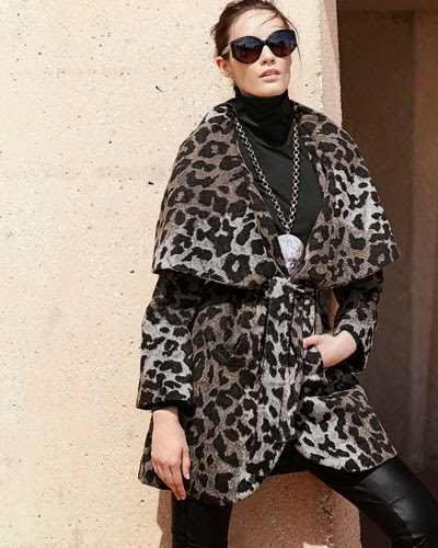 T tahari coat, t tahari marla wrap, Marla coat wrap with collar, coats with big collar, best winter 2014 coats, 2015 winter jackets coats, wrap robe coat, robe coats for cold, best cold weather coats, warm jackets, T Tahari wrap robe, trendy jackets 2014, NYC blogger fashion coats, leopard coat, leopard wrap, leopard winter jacket