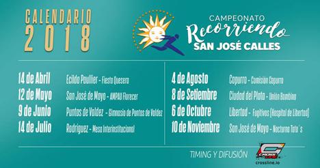 Calendario Recorriendo San José 2018