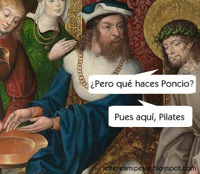 Pilatos, Pasión, Semana Santa