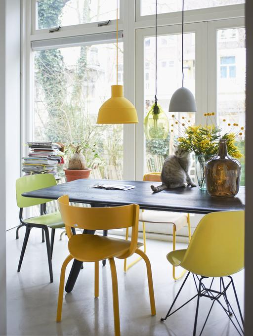 Woonkamer Geel Blauw: Kleurinspiratie van vt wonen maison belle ...