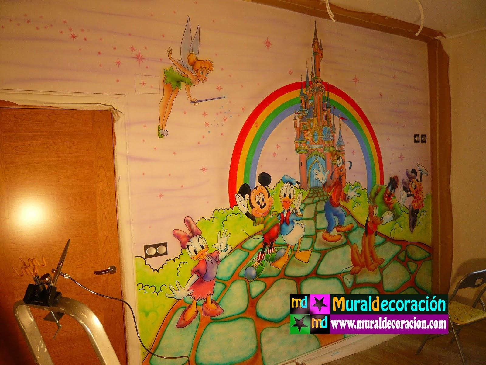 Murales infantiles aerografia murales infantiles - Dormitorios infantiles mixtos ...