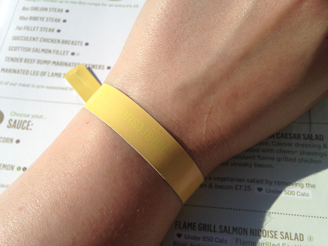 Smart Sun wristband on wrist