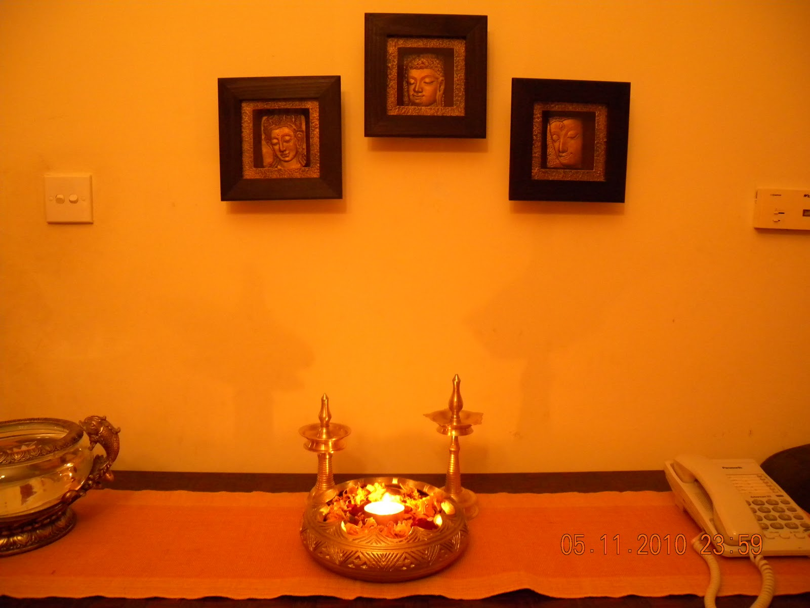 Indian home decorations during diwali diwali home for Simple diwali home decorations