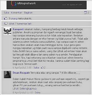Serem Gan, Tiket ke Neraka Buat Admin Idblognetwork